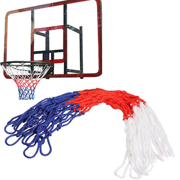 Standard Nylon Thread Sports Basketball Hoop Mesh Net Backboard Rim Ball Pum 12 Loops White Red Blue 3 Colors ARE4