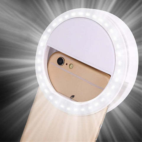 HOT New Arrival LED Ring Flash Fill Light Clip Photo Camera For Cell Phone Smartphone Self-timer / Beauty