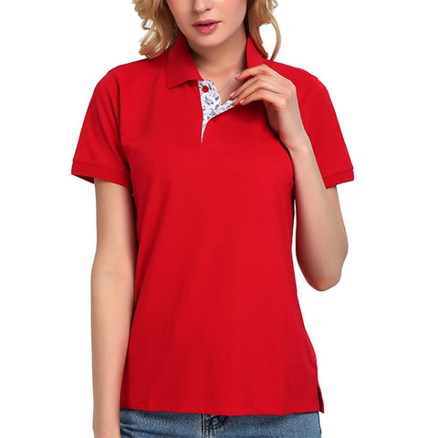 Unisex Adult's Polo T-shirt Breathable Short Sleeve Cotton Casual Classic Patchwork