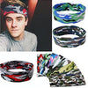 Unisex Sweat Headband Elastic Camouflage Stretch Fitness Exercise