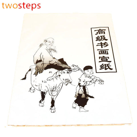 TwoSteps Chinese Xuan Paper White Calligraphy Rice Roll For Brush Painting Writing Practices Thin Translucent Sheets