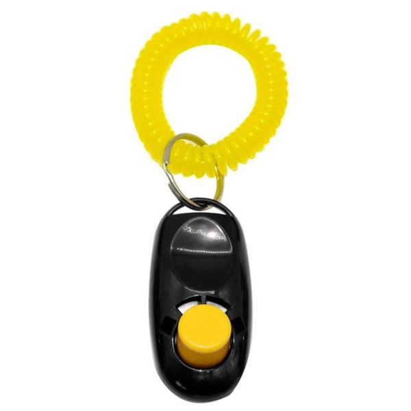 Dog Clicker Cat Training Trainer with Key Ring And Wrist Strap 7 Colors