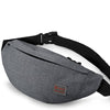 TINYAT Men Male Casual Functional Fanny Bag Waist Money Phone Belt T201 Gray Black