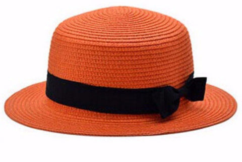 Women's Sun Hat Panama Boater Bow Style