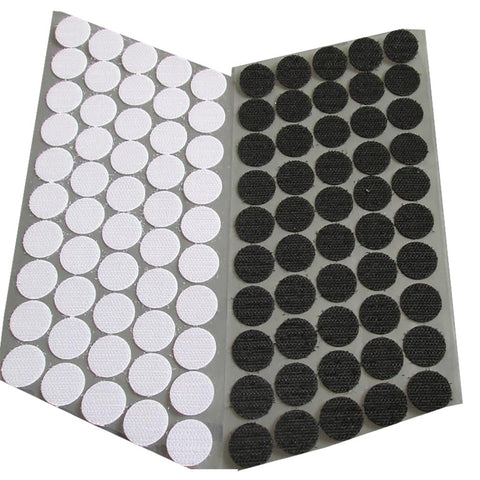 100Pairs Blackand White Magic Nylon Sticker Double Sided Adhesive Hooks Loops Disks Round Fastener Tape Sewing 100% Nylon