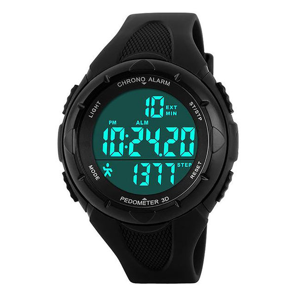Women's Digital Watch Pedometer LED Health Sport Waterproof Alarm Chrono Calendar