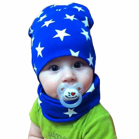 Unisex Baby Beanie and Scarf 2 pcs/set Autumn Winter Outerwear Accesory