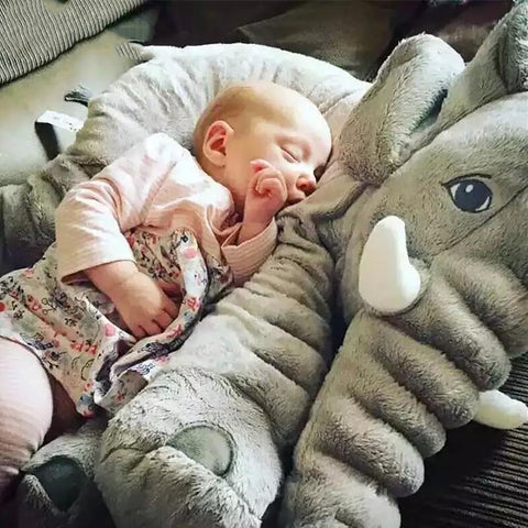 BOOKFONG 1PC 40/60cm Infant Soft Appease Elephant Playmate Calm Doll Baby Toys Pillow Plush Stuffed