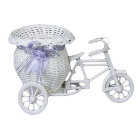 Plastic Basket Container Tricycle Bike Design for Plant Home Wedding Decoration