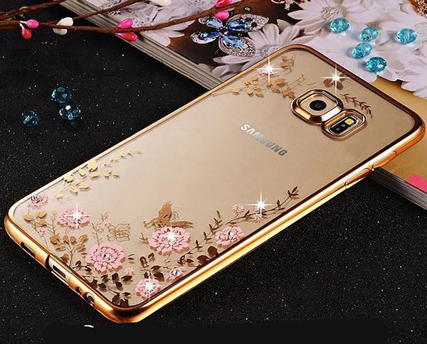 Samsung Soft Case Clear Transparent Diamond Rhinestone