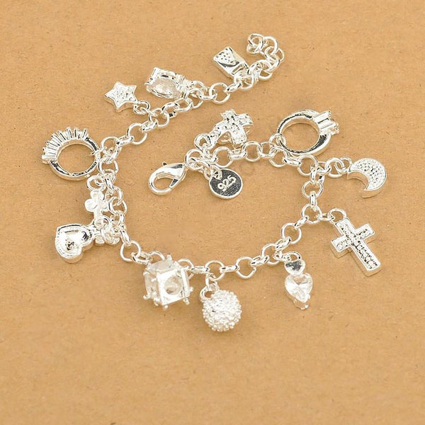Women's 925 Sterling Silver Charm Pendants for DIY Jewelry