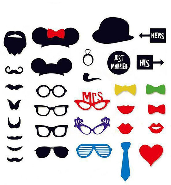 Photo Booth Wedding Decoration Mustache Funny Glasses Party Birthday DIY