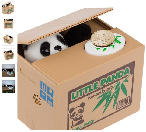 Ola Panda Thief Money Boxes Toy Piggy Banks Gift Kids Money Automatic Stole Coin Piggy Bank Saving Box Moneybox