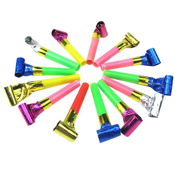 10Pcs/set Funny Colorful Whistles Kids Childrens Birthday Party Blowing Dragon Blowout Baby Supplies Toys Gifts