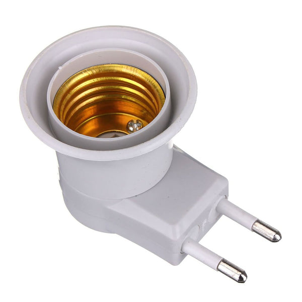 Lamp Base E27 LED Light Male Socket to EU Type Plug Adapter Converter for Bulb Holder With ON/OFF Button