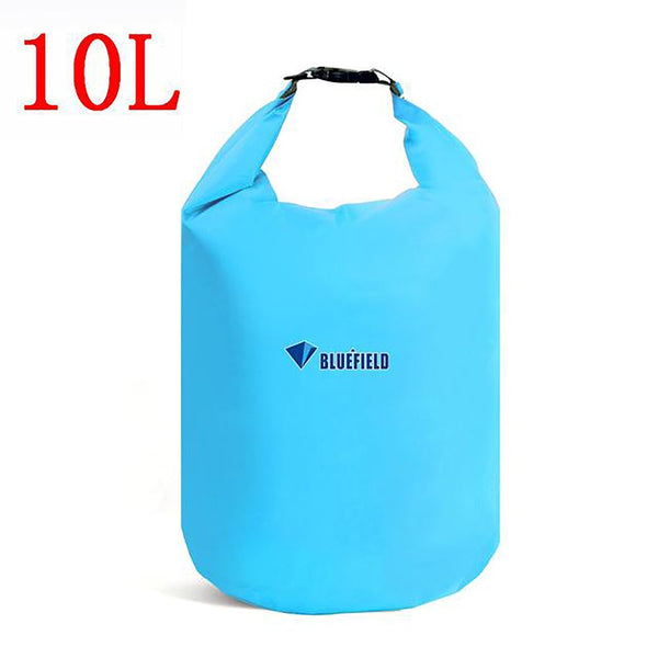 Outdoor Waterproof Bag with Adjustable Strap Hook Dry Storage for Swimming Camping Rafting 10L 20L