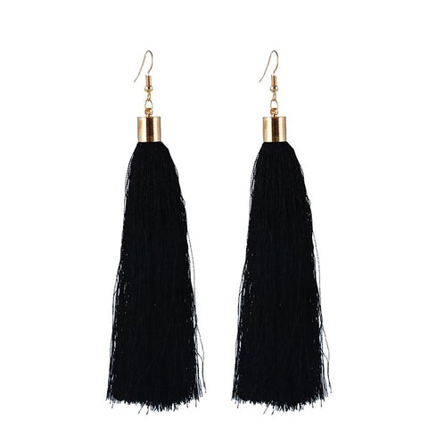Women's Long Earrings 13 cm Bohemial Tassel Drop Style Summer