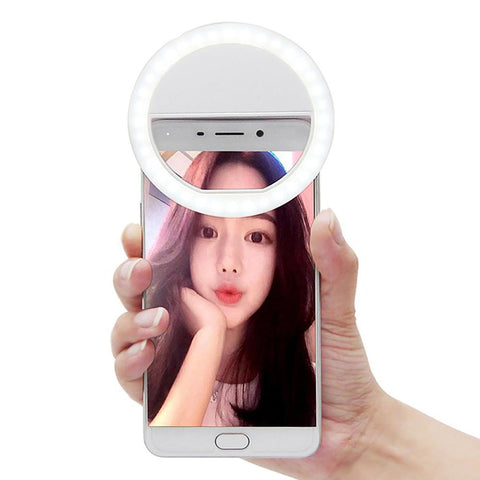 Selfie Luminous Lamp Universal LED Photography Flash Light Up Night Phone Ring for Iphone SE 5 6 6S Plus LG Samsung HTC