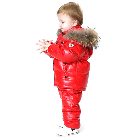 Unisex Children's Winter Clothes Set for New Year's Eve Jacket and Pants