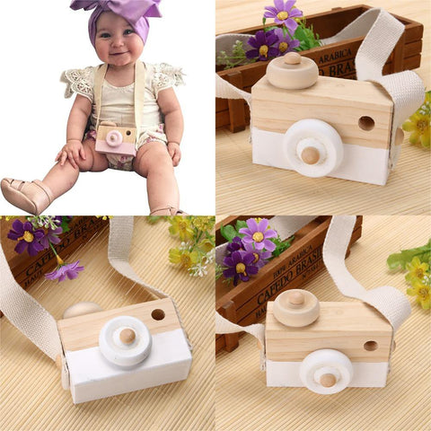 New Baby Kids Wood Camera Toys Children Fashion Clothing Accessory Safe And Natural Birthday Educationa Toy Gift LA891777