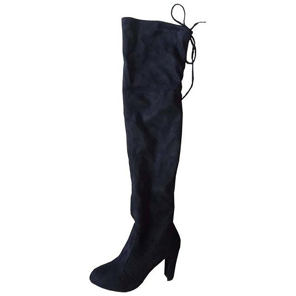 2a757dbb8b4 Women s Snow Boots Faux Suede Slim Over The Knee Winter Tight. prev