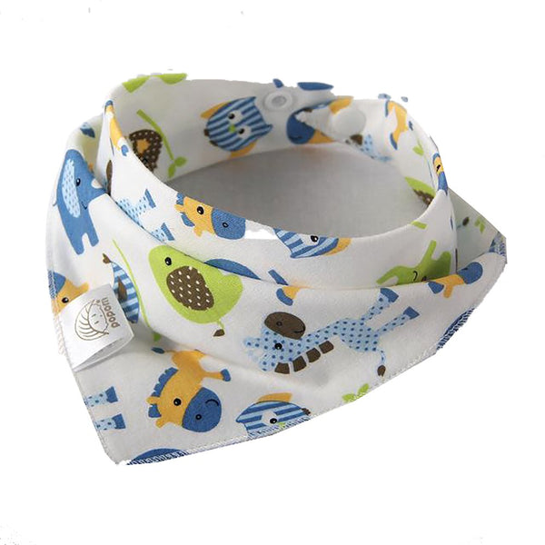 Baby Bibs High Quality Triangle Double Layers Cotton Baberos Cartoon Character Animal Print Baby Bandana Dribble