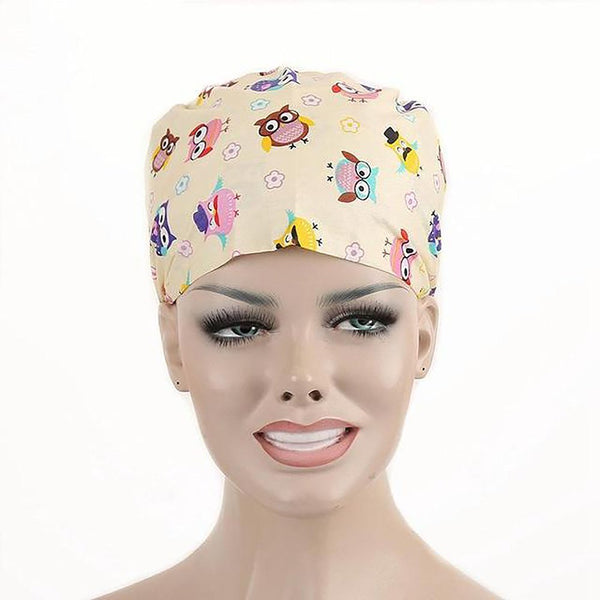 Unisex Medical Cap and Mask Printing Scrub Surgical for Doctor Nurses