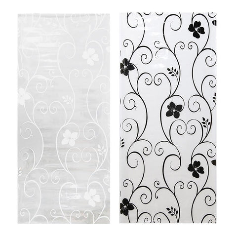 Opaque Glass Window Film Frosted Privacy Sticker Wrought Iron Flower Home Decor
