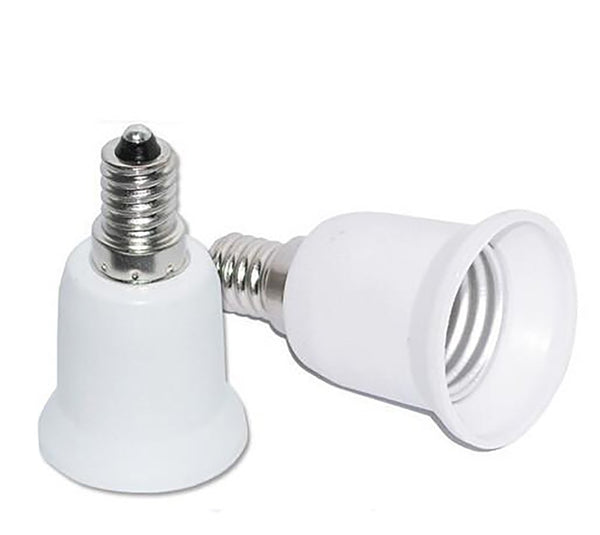 E14 to E27 Fireproof Lamp Holder Converter Socket Base Type Adapter For Led Bulb