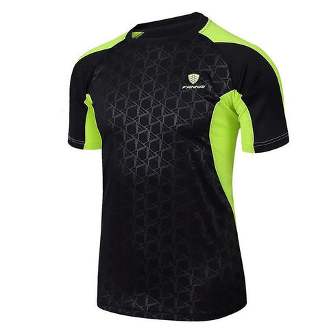 Men's Sport T-shirt O-Neck Quick Dry Breathable Short Sleeve for Outdoor Tennis Badminton