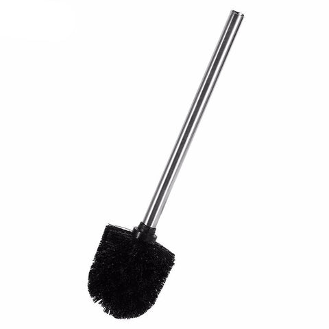 1pc Durable WC Bathroom Toilet Brush with Stainless Steel Handle Black Head Cleaning Tools