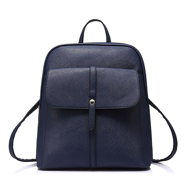 Teenage Girl's Backpack with Zipper Preppy Style for School