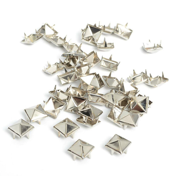 Pyramid Studs 100pcs 8mm Sewing Rivets Design Spikes Leather Craft Accesories