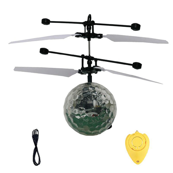 Teenager's Remote Control Flying Ball Drone Helicopter Toy Built-in Shinning LED Lighting Colorful