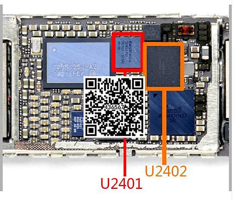 Touch Screen Control IC U2402 343S0694 + U2401 for IPhone 6 Iphone6 plus 6+ 6P BCM5976 10pcs/set