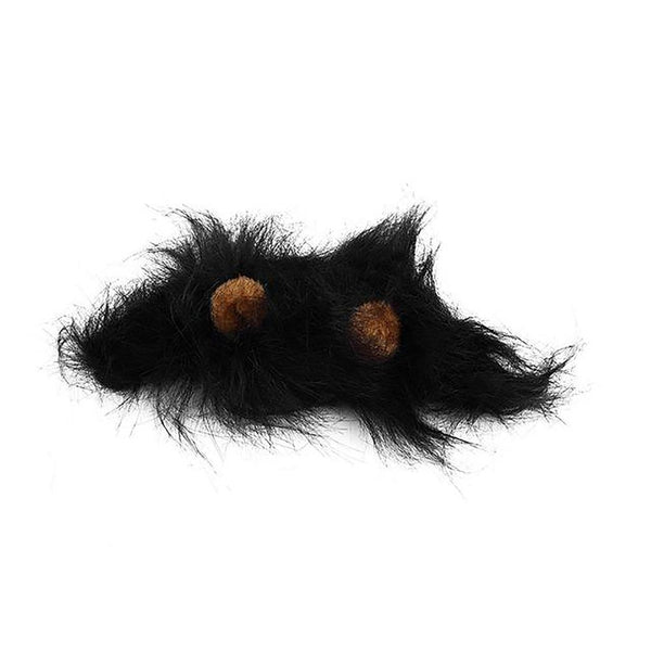 Pet's Mane Ears Head Cape Emulation Lion Hair Muffler Scarf Autumn Winter Costume