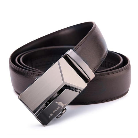 Men's Leather Belt Designer Vintage Buckle