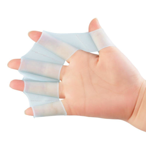 1 Pair Silicone Swimming Hand Fins Flipper Palm Finger Webbed Gloves Paddle Improve Resistant Swim Glove Equipment Drop Shipping