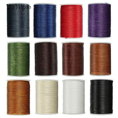 Durable 1PC 78 Meter 0.8mm Leather Waxed Thread Cord for DIY Handicraft Tool Hand Polyester Stitching Multicolor