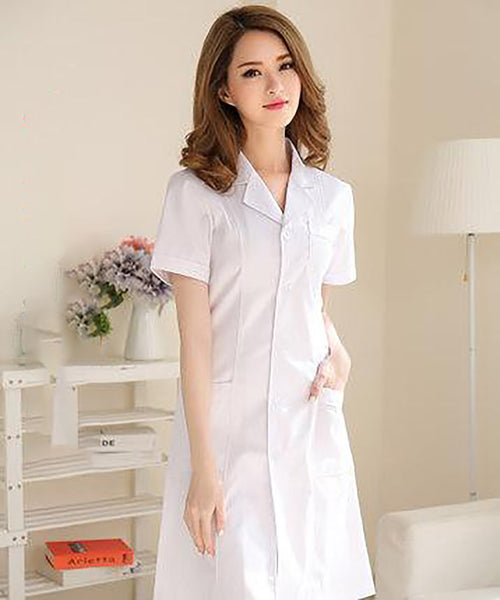Unisex Adult's Doctor Coat Surgical Long Sleeves Washable Anti-wrinkle Uniform