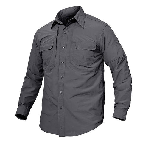 Men's Tactical Shirt Quick Dry Breathable Cam Casual Long Sleeve Combat Military