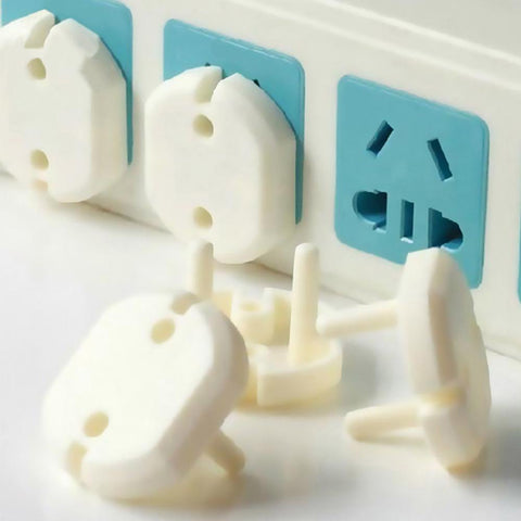 10 Pcs 2 Hole Sockets Cover Plugs Baby Electric Outlet Plug Kids Electrical Safety Protector Protection Caps