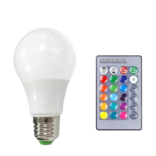 LED Lamp E27 Bulb Lampada Light 3W 5W 10W RGB Dimmable Lighting Bombillas Lamparas Ampoule Spotlight Ball Remote Control HOTOOK