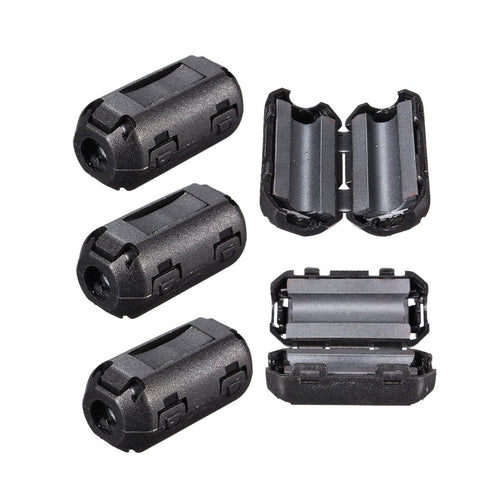 Noise Suppressor Clip On EMI RFI 5mm Cable Ferrite Core Filter Removable 25*10mm 5pcs/lot