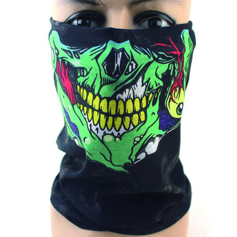 Halloween Scary Mask Festival Skull Masks Skeleton Outdoor Motorcycle Bicycle Multi Scarf Half Face Cap Neck Ghost