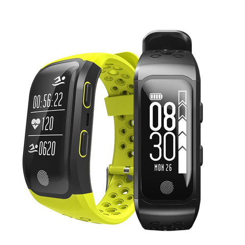 Unisex Smart Bracelet IP68 Waterproof Heart Rate Monitor Call Reminder GPS Chip Sport