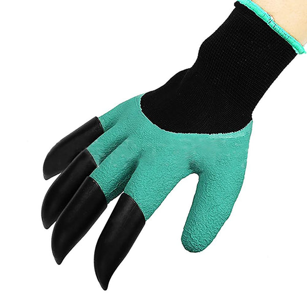 Tough Rubber Garden Gloves Protective with Claw Design in One Glove For Digging, Raking and Planting