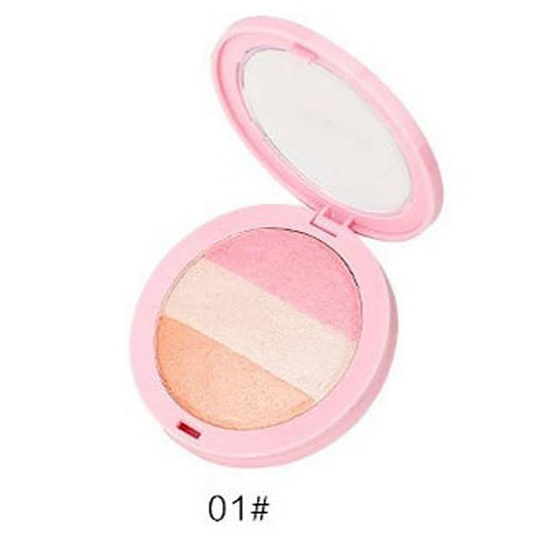 3 Colors BY NANDA Baked Blush Makeup Cosmetic Natural Blusher Powder Palette Charming Cheek Color Make Up Face