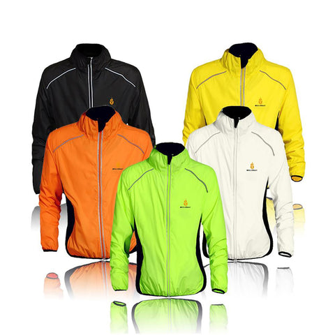 Unisex Cycling Jacket Long Sleeves/ Sleeveless Windproof Riding Waterproof