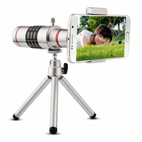 Universal 18X Camera Zoom Optical Telescope With Mini Tripod For Smartphone IP SAM Note 2 3 4 5 Galaxy S4 S5 S6 S7 Edge